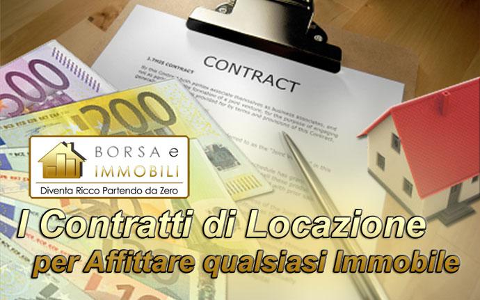 I contratti di locazione per affittare qualsiasi immobile for Locazione immobile arredato