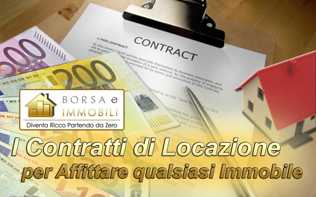 I contratti di locazione per affittare qualsiasi immobile for Contratti d affitto